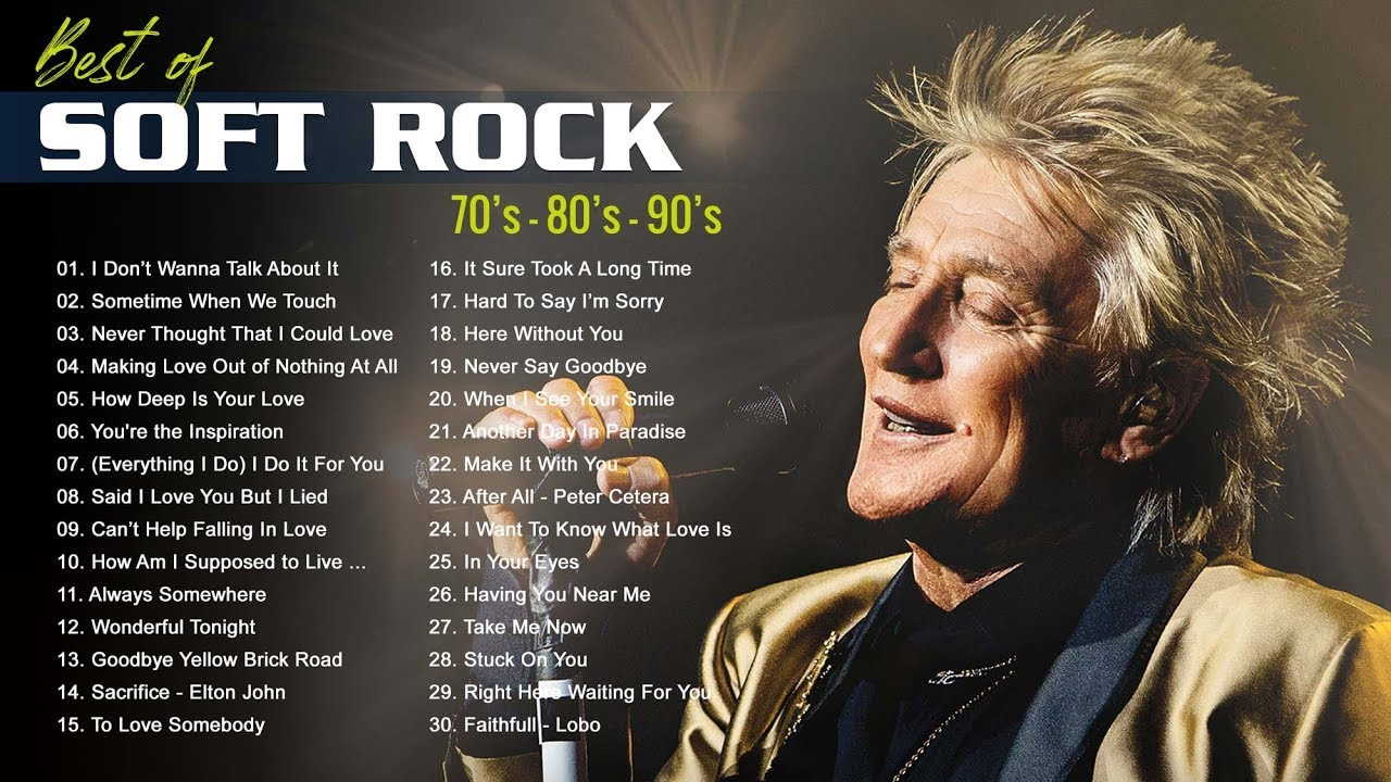 Soft Rock Songs Of The 70s 80s 90s-Michael Bolton,Rod Stewart, Bee Gees,Lobo,Phil Colins, Elton John