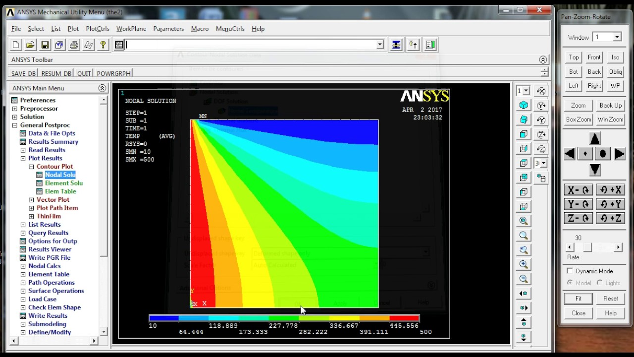 Thermal to Structural example in ansys