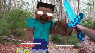 Minecraft in Real Life Animation vs Realistic Minecraft Texture Pack 13+