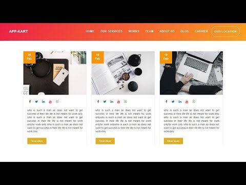 Blog Section For Website Design - Html 5 And Css 3 || Complete Website Design