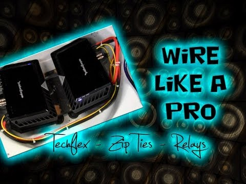 How to - Car Audio Wiring - Tips and Tricks to a Clean Install - Car Audio Fabrication CAF Mp3