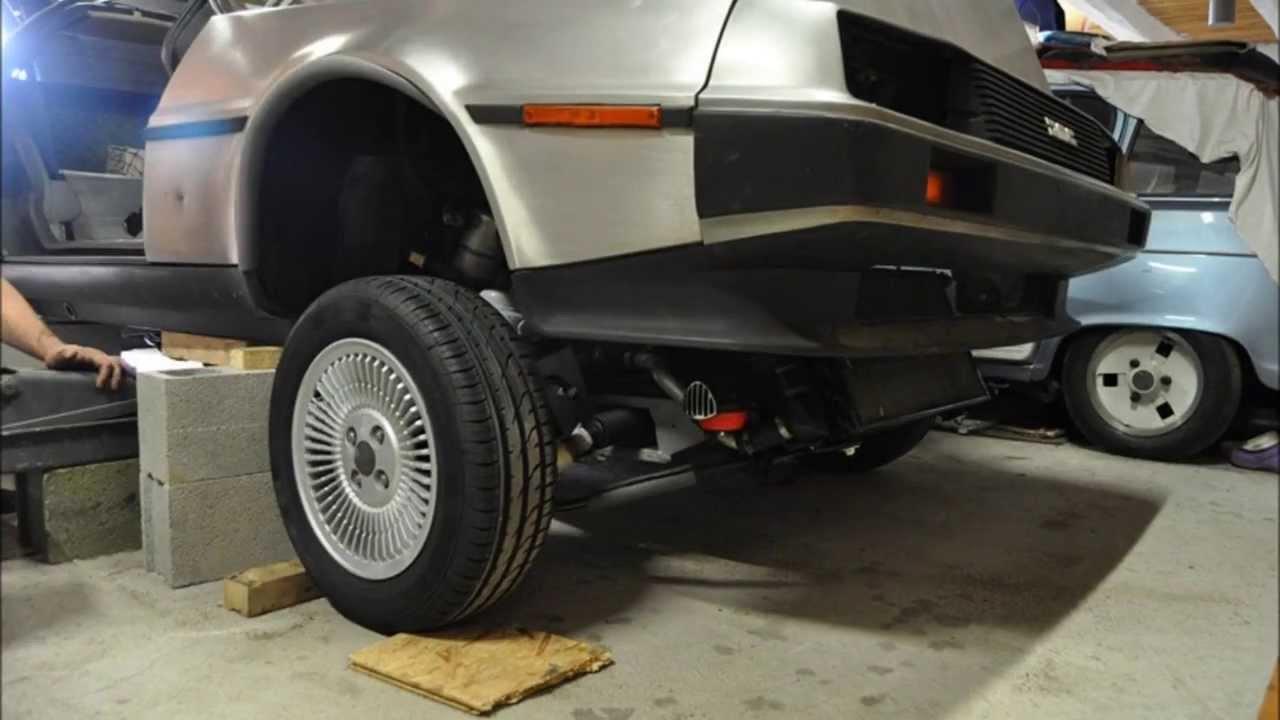 Frame back on the DeLorean VIN 10838 - YouTube
