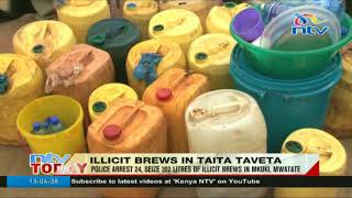 24 people arrested, 302 litres of illicit brew seized in Mwatate, Taita Taveta