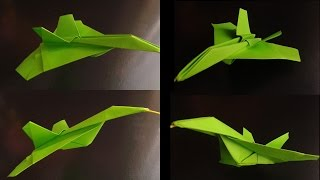 How To Make An Cy-27 Eagle Jet Fighter Paper Plane Origami