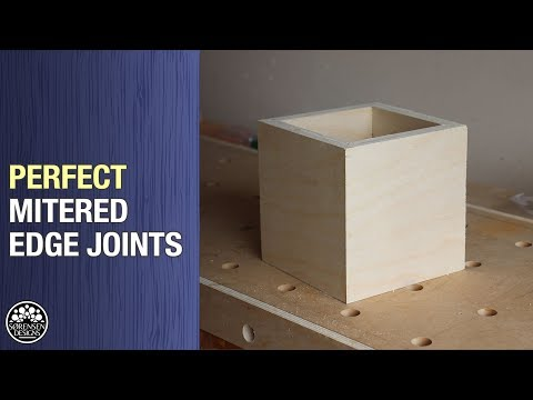 Perfect Mitered Edge Joints // Woodworking Jig
