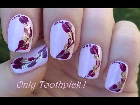 toothpick nail art #6 - diy easy