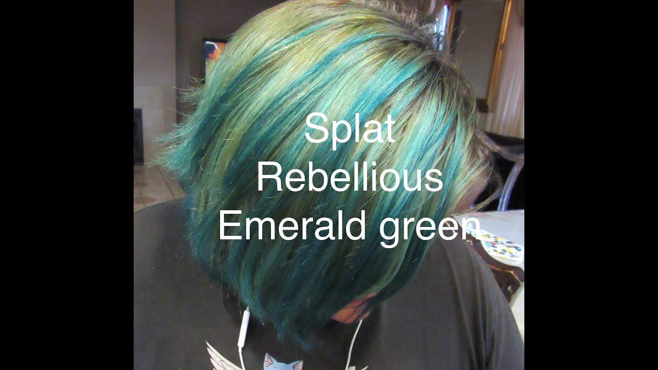 Splat Emerald Green Hair Tutorial Youtube