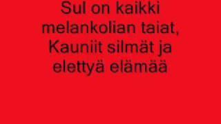 Anna Puu - Melankolian riemut (lyrics)