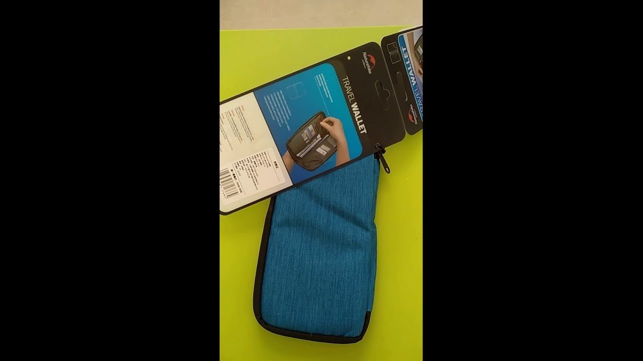 89fb1f0eb2c9f6 Naturehike Travel Passport Card Bag Ticket Cash Wallet Pouch Holder For  iphone Blue