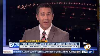 KGTV-SD: San Diego Community College District to Observe Moment of Silence for Shooting Victims