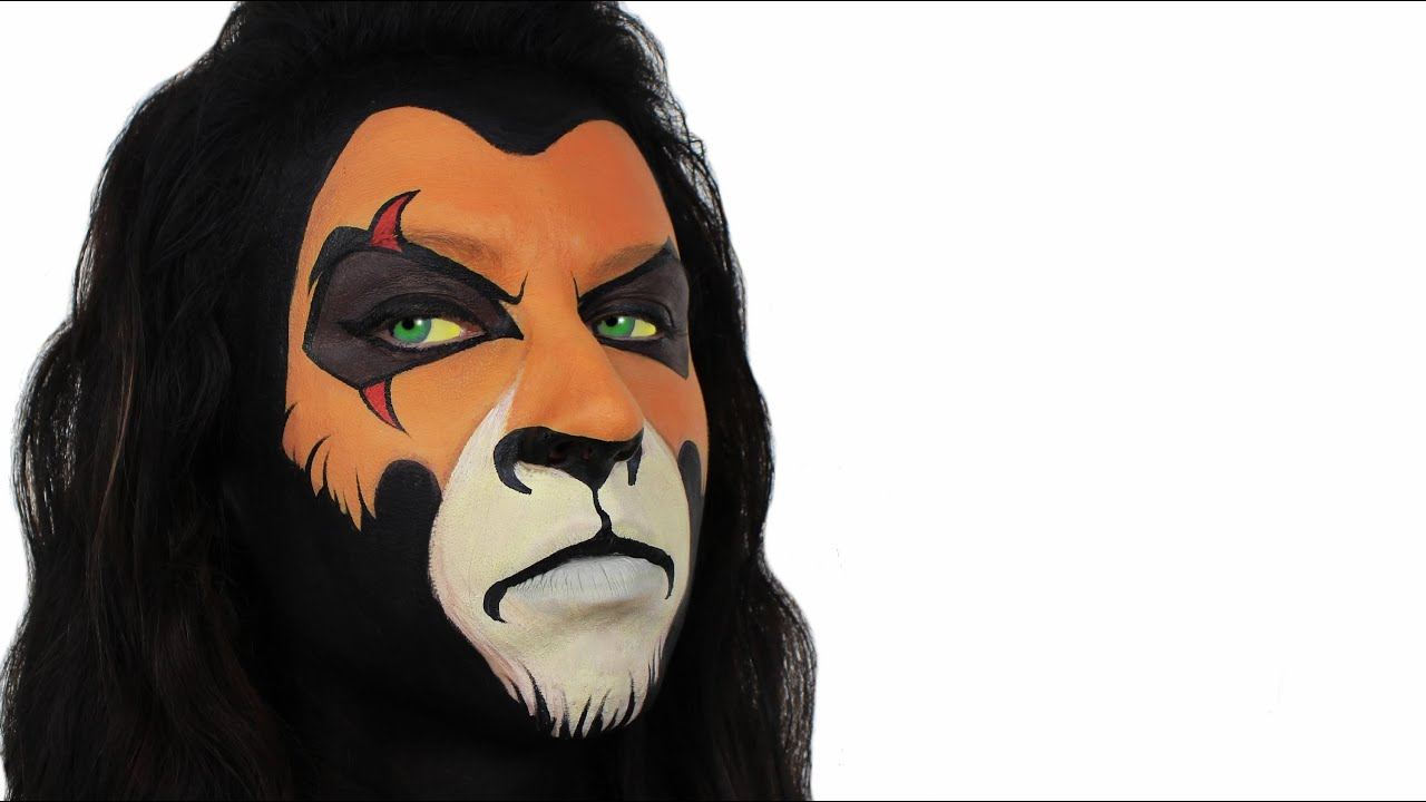 how to draw scar lion king face