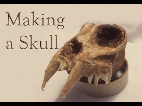 How to make a replica animal skull
