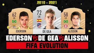 Alisson VS Ederson VS De Gea FIFA EVOLUTION! 😱🔥 FIFA 10 - FIFA 21