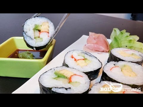 "recette-facile-maki-avocat-surimi---futomaki-(réalisée-avec-le-""kit-maki-sushi-&-co"")"