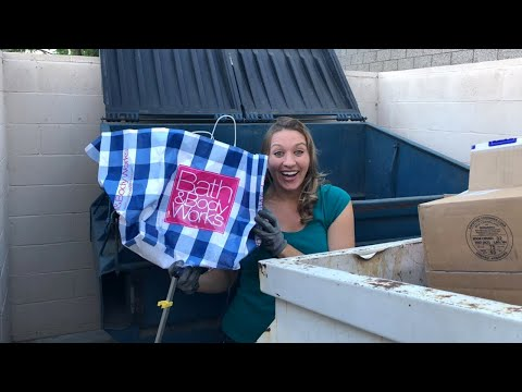 DUMPSTER DIVING BATH AND BODY WORKS LIVE