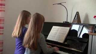 W.A.Mozart. Sinfonie Nr.40 g-Moll, 1.Satz, Klavier 4-händig