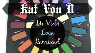 Kat Von D Mi Vida Loca Remix Palette: Live Swatches & Review
