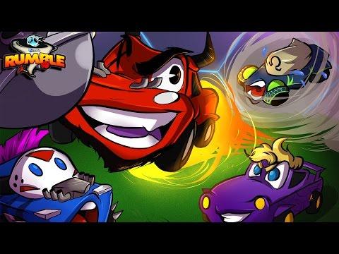 Rocket League: Rumble! | POWER UPS AND BEAT DOWNS! (CaRtOoNz & Bryce vs H2O Delirious & Ohmwrecker)