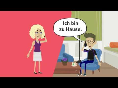 """Deutsch Lernen A2, B1 / Indirekte Fragen / Wechselpräpositionen / Nebensätze """"weil"""", """"wenn"""", """"dass"""""""