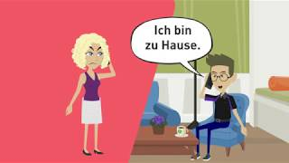 Learn German A2, B1 / Indirect questions / two-case prepositions / subordinate clauses