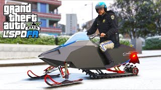 *NEW* Police Snowmobile City Patrol!! (GTA 5 Mods - LSPDFR Gameplay)