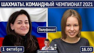 Россия Украина Полуфинал Командный чемпионат мира 2021 Женщины Дмитрий Филимонов Шахматы