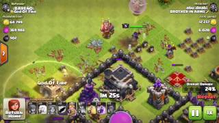 TH9 Winning Master league with SHIT TROOP Clash of Clans