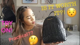 Michael Kors Abbey Backpack REVIEW and TRYON!!!!!!!!