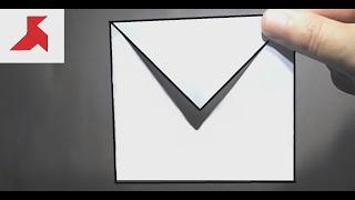 Оригами конверт из бумаги А4…(Инструкция, как красиво сделать маленький квадратный оригами конверт своими руками из листа бумаги формат..., 2016-08-28T23:18:40.000Z)
