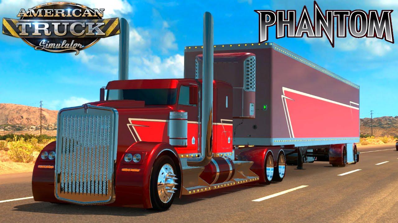 American Truck Simulator Mod KENWORTH PHANTOM - YouTube