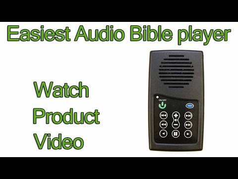 EASIEST Audio Bible players in the world to use