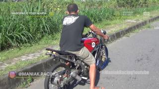 Gambar cover HEBOH AKSI YUSRON mekanik ternama indonesia setting sendiri NINJA TU & NINJA std drag bike
