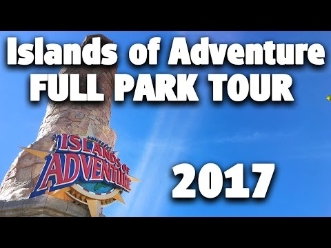 2017 Full Park Tour and Overview | 4K | Islands of Adventure