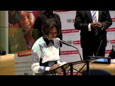 Quality Education for the World We Want: First Lady Michelle Obama, USA