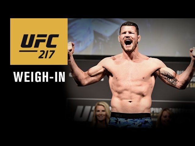 UFC 217: Official Weigh-in Video and Live Odds