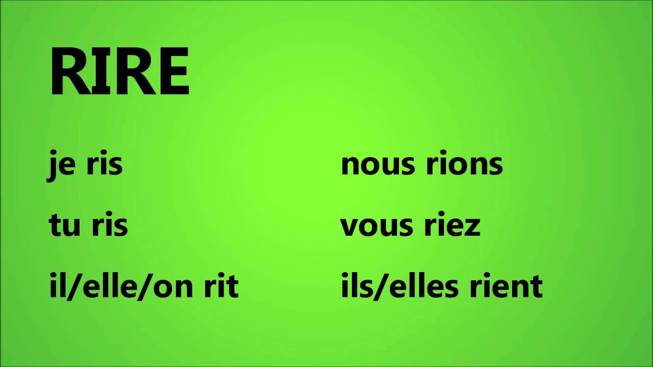 French With Adel Verbe Rire Youtube