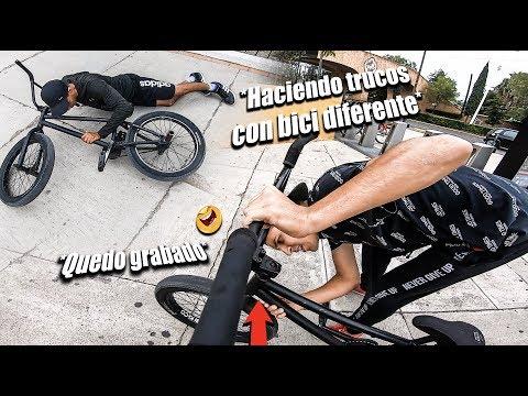 TRONO SU CUADRO AL AVENTARSE DE AQUÍ  *Hice Trucos Difíciles Con Su Bicicleta*