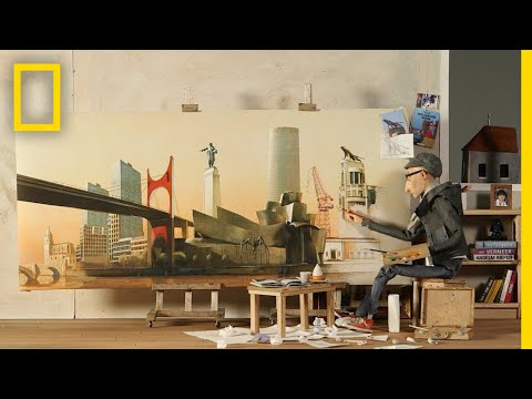 An Artist's Portrait of His Spanish Hometown Bilbao | National Geographic