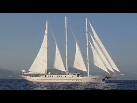$14m sailing mega yacht: Romance & luxury