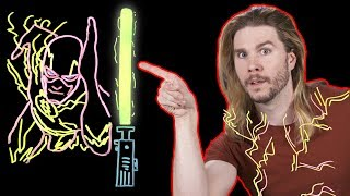 Can the Flash Touch a Lightsaber?
