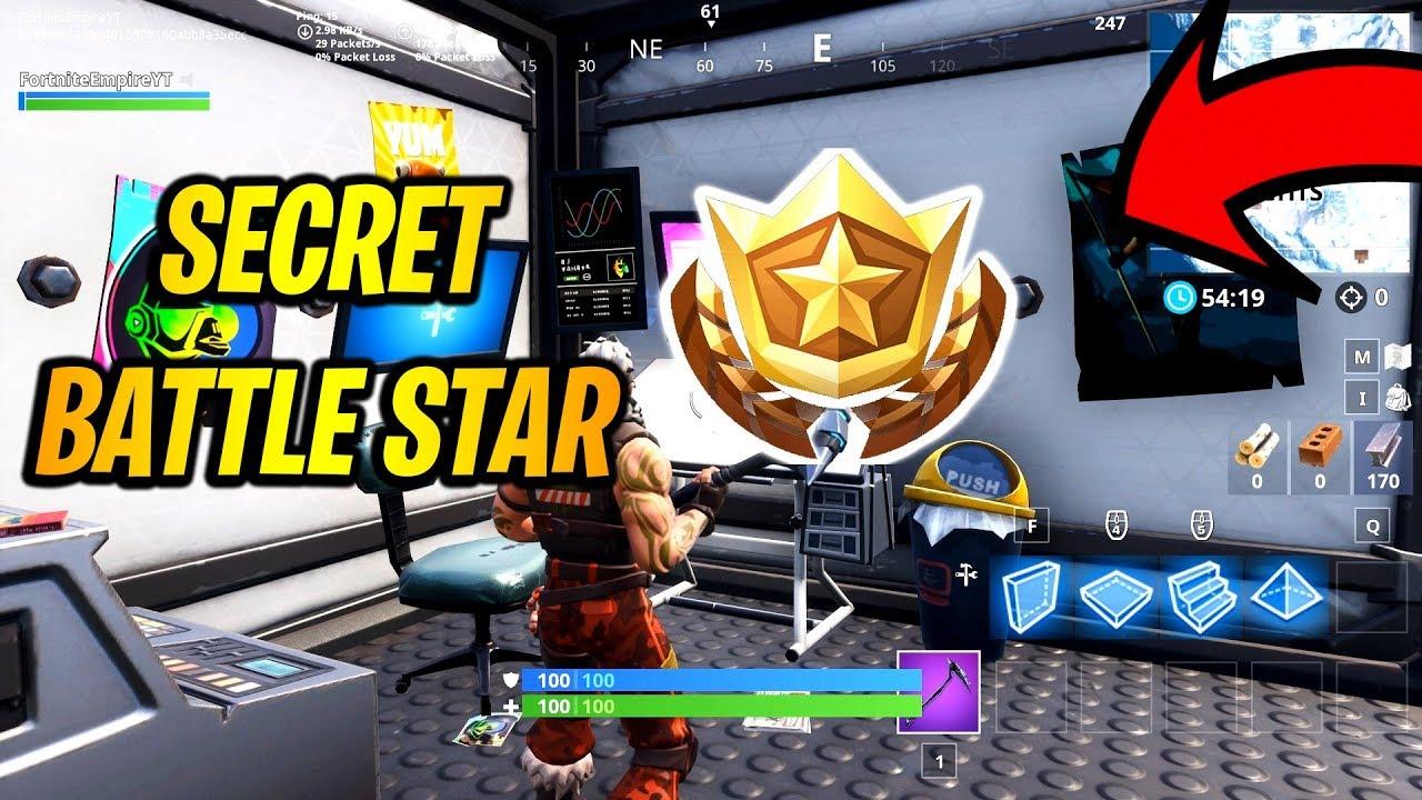 Secret Battle Star Location Week 2 Season 7 In Fortnite Youtube