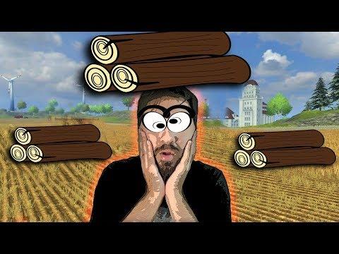Odunlar Kafamıza Düştü   Farming Simulator W/Han Kanal