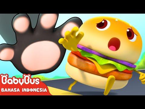 hamburger-berlari-lari- -lagu-makanan- -lagu-anak-anak- -bahasa-indonesia- -babybus