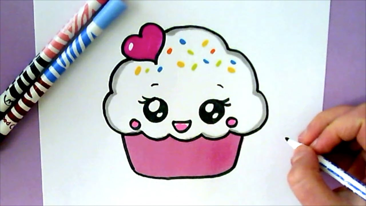 How to draw a cute cupcake youtube for Hase malen