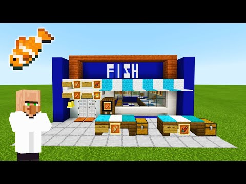 Minecraft Tutorial: How To Make A Fish Market