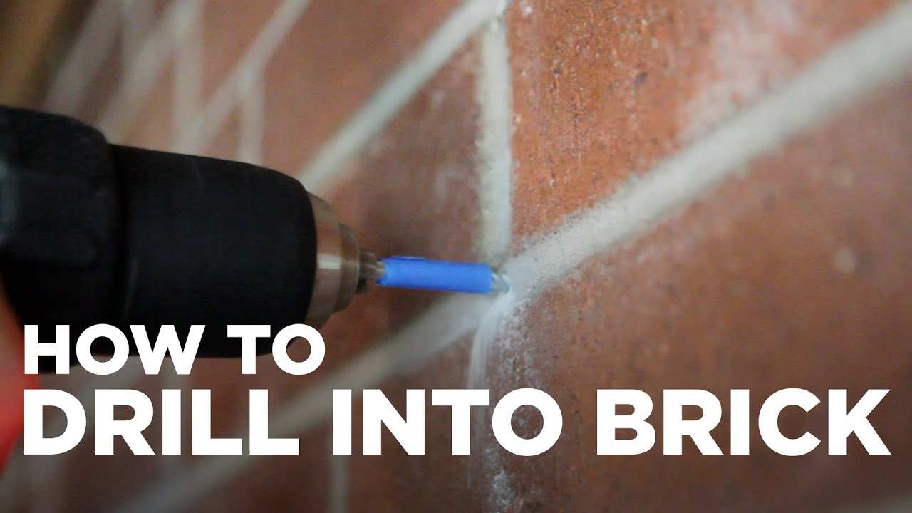 How To Add Brick To A Wall How To Drill Into A Brick Wall Youtube