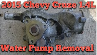 2015 Chevy Cruze  water pump removal/install part 1