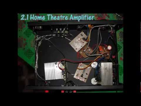 Homemade 21 Amplifier With Tda 7265 Short Clip Youtube