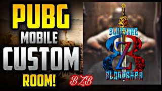 Custom Room by BZB Live Stream 7 || PUBG MOBILE || PMCO Point count