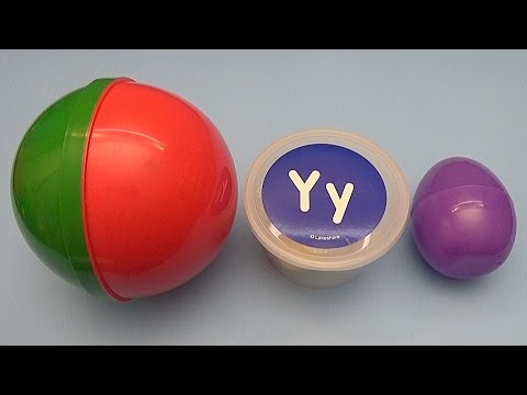 Disney Princess Kinder Surprise Egg Learn-A-Letter!  Spelling Words that Start with the Letter Y!